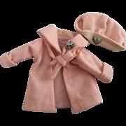 Original Arranbee Nancy Peach Wool Coat and Hat 1930s