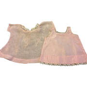 Pink Organdy Dress and Slip for Baby and Toddler Dolls 1930