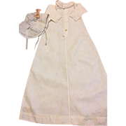 Antique Doll Christening Gown and Bonnet 1900
