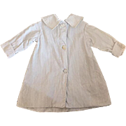 Antique White Ridged Coat for Bisque Dolls
