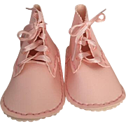 MIP Baby Gay Pink Baby Booties Great for Dolls 1950s