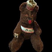Vintage German Berlin Souvenir Bear 1940s
