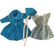 Coat, Hat, and Dress for Hard Plastic Dolls 1950s