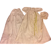 Christening Gown, Slip, Doll Bonnet for Dy-Dee and Friends 1940s