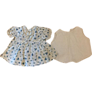 Dimity Dress and Chemise for Composition Dolls 1940