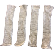 Two Pairs Old Store Stock Rayon Doll Socks for Vintage Dolls