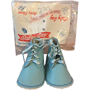 MIP Baby Gay Blue Baby Shoes Great for Baby Dolls 1950