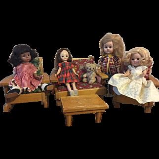 Rustic Pert Pat Doll Furniture 1950s