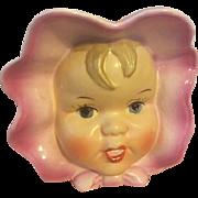 Napco Baby Head Vase 1950s
