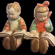 Adorable Vintage Goldcastle Child Book Ends