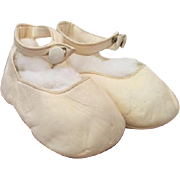 Lovely Italian Kid Leather Baby Center Ankle Button Shoes - Great for Dolls