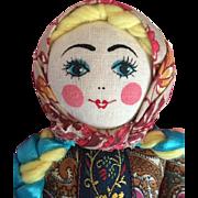 MIB Vintage Hand Painted Russian Folk Doll