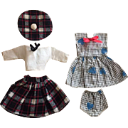 Two Cute Factory Outfits for Small Fashion Dolls 1950s