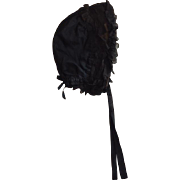 Antique Girl's Mourning Bonnet