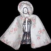 Lovely Floral Eiderdown Cape for Large Dolls 1940