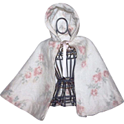 Lovely Floral Eiderdown Cape for Large Dolls 1940
