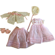 Five Piece Pretty Outfit for Dy-Dee Baby and Friends 1950