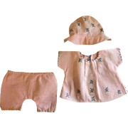 Three Piece Outfit for small toddlers and mama dolls 1920