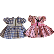 Two Dresses for Chubby Dolls 1950
