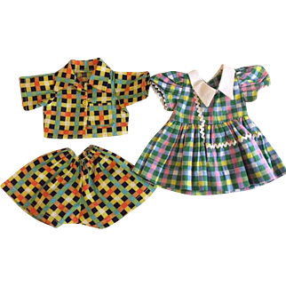 Doll Dress and Shorts Set 1950s for Hard Plastic Dolls
