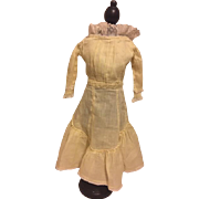 Yellow Batiste Antique Doll Dress for China Head Bisque