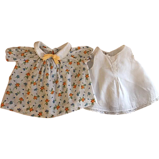 Dimity Doll Dress and Whole Slip for Composition dolls such as Patsy Ann 1930s