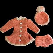 Peach Mary Hoyer Ice Skating Dress 1950s