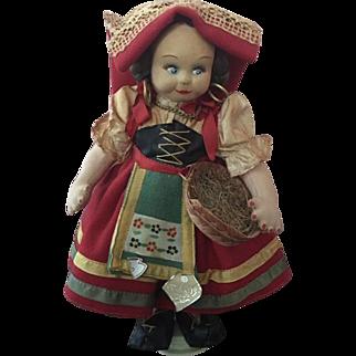 Magis Roma Adorable Cloth Doll Italy 1940s