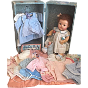 Dy-Dee Baby in Trunk with Original Outfits 1950