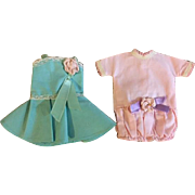 Two Dresses for Small Dolls such as Shirley Temple 1950s