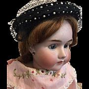 Vintage Mid-Twentieth Century Clover Lane Pillbox Hat for Bisque Dolls too