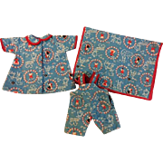 Three Piece Quilted Doll Set for Dy-Dee Kin and Friends 1950s