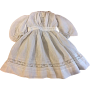 Antique White Lawn Dress for China Heads and Parians 1890