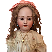 Antique Hand-tied Large Ash Brown Doll Wig