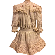 Beautiful Silk Dress for German or French Bisque