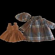 Doll Dress, Coat, Hat for Hard Plastic Dolls 1950s