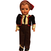 Turtle Mark Celluloid Boy Doll Sweet Face 1948