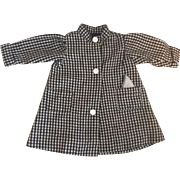 Black and White Wool Doll Coat with Silk Lining 1920's