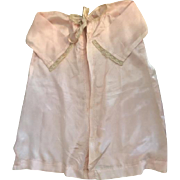 Antique Pink Silk Baby Robe for Big Baby Dolls 1910