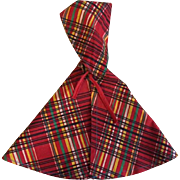 Red Plaid Hooded Cape 1940
