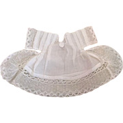 Sweet White Lacey Doll Dress for French or German Bisque