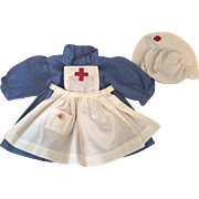 Three Piece Red Cross Nurses Outfit 1930s