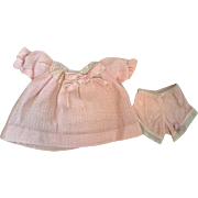 Peach Bishop doll Dress and Underwear 1920