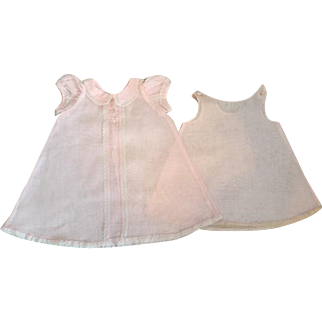 Original Effanbee Dy-Dee Baby Pink Gown and Slip 1950