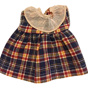 Plaid dress for Shirley Temple or Patsy