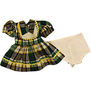 Cute Plaid Factory Dress for Hard Plastics such as Toni 1950s