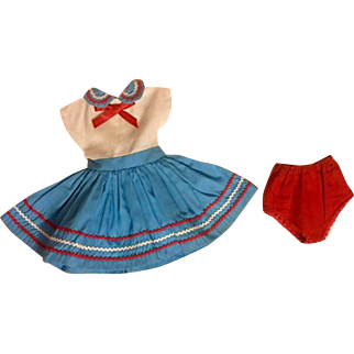 Cute Dress and Unders for Hard Plastic Dolls 1950s