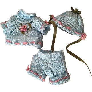 Four Piece Set for Small Dolls and Small Bisque