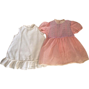 Pink Organza Dress and Slip for Big Baby Dolls 1950