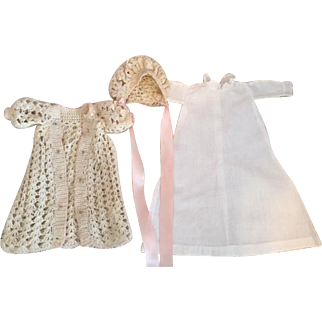 Antique Three Piece Outfit for Baby Dolls 1890